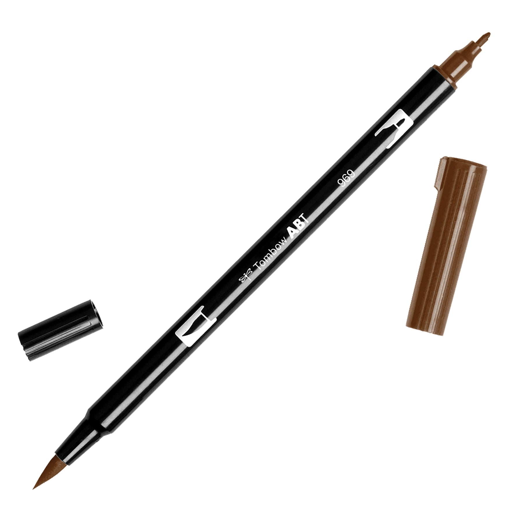 Tombow ABT Dual Brush pen 969 Chocolate - JournalnStuff