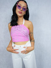Load image into Gallery viewer, Reversible Bandana Top in Pink/Blue