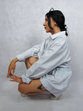 Load image into Gallery viewer, Shirt Co-ord in White Stripe