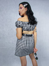 Load image into Gallery viewer, Black & White Gingham Co-ord