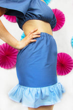 Load image into Gallery viewer, Friller Skirt in Blue