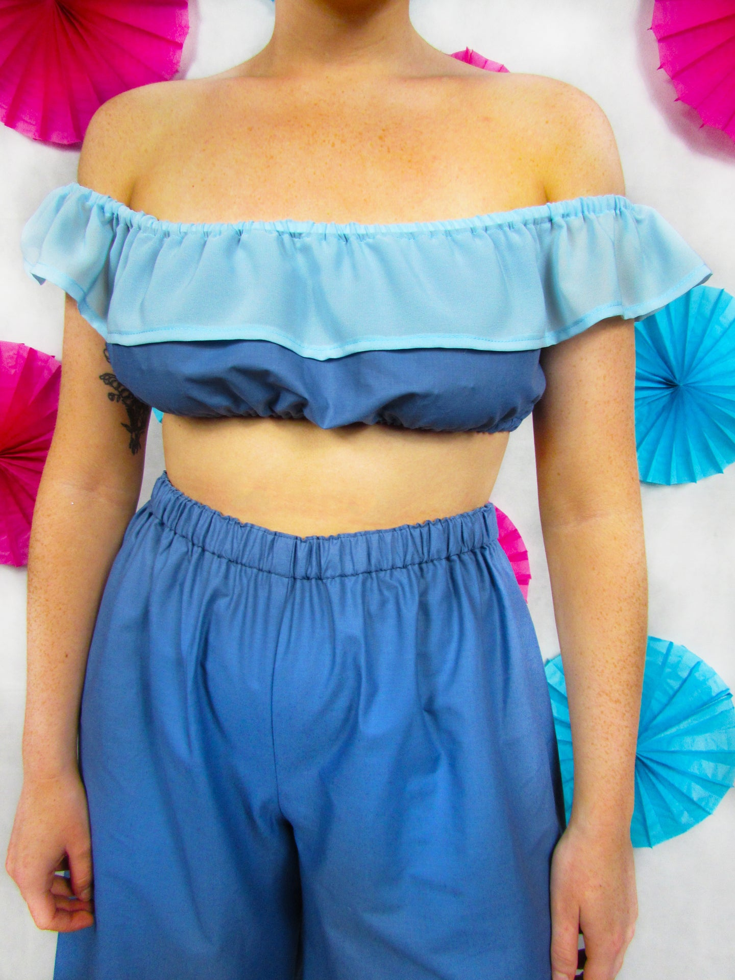 Friller Crop Top in Blue