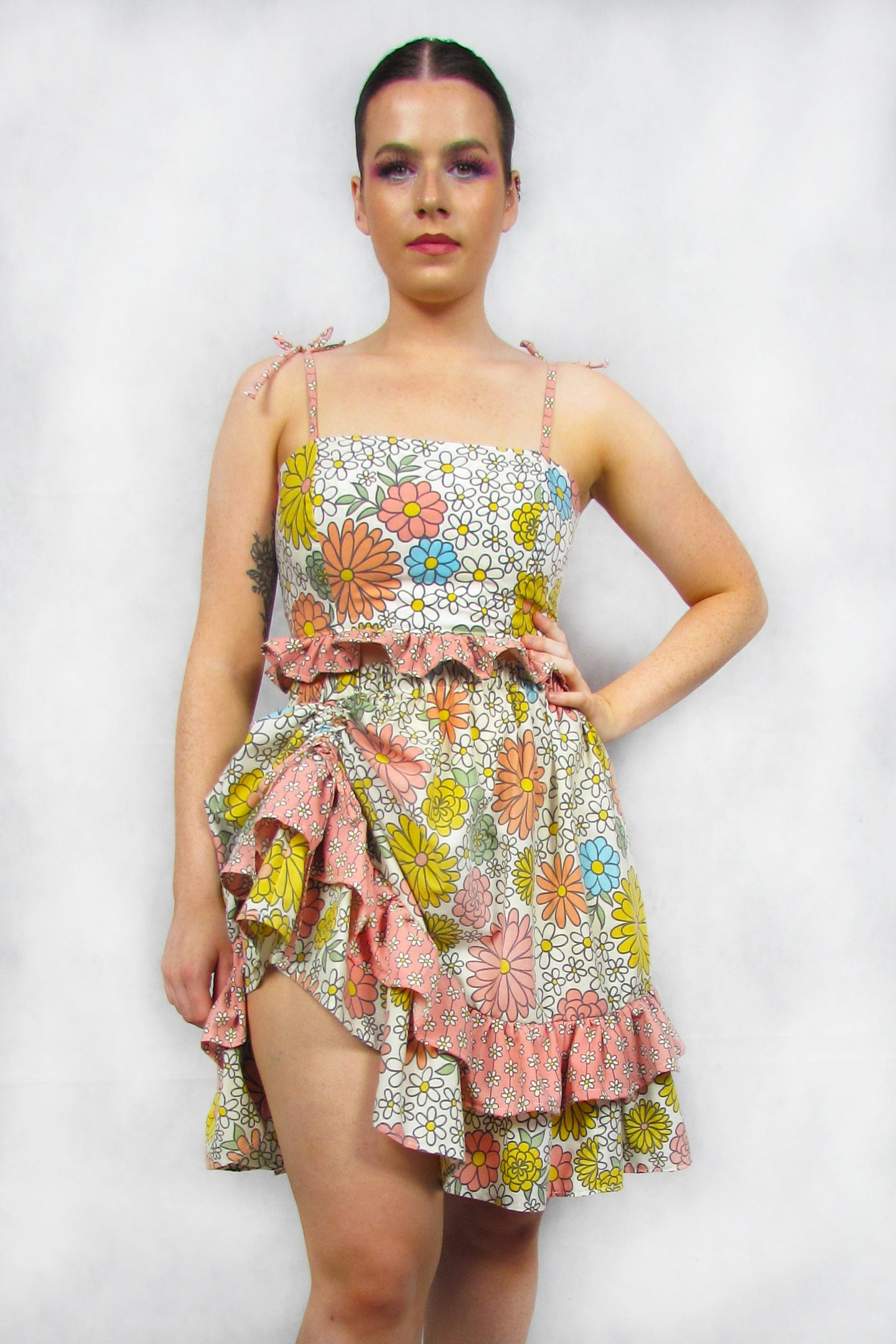 Flower Power Ruched Skirt