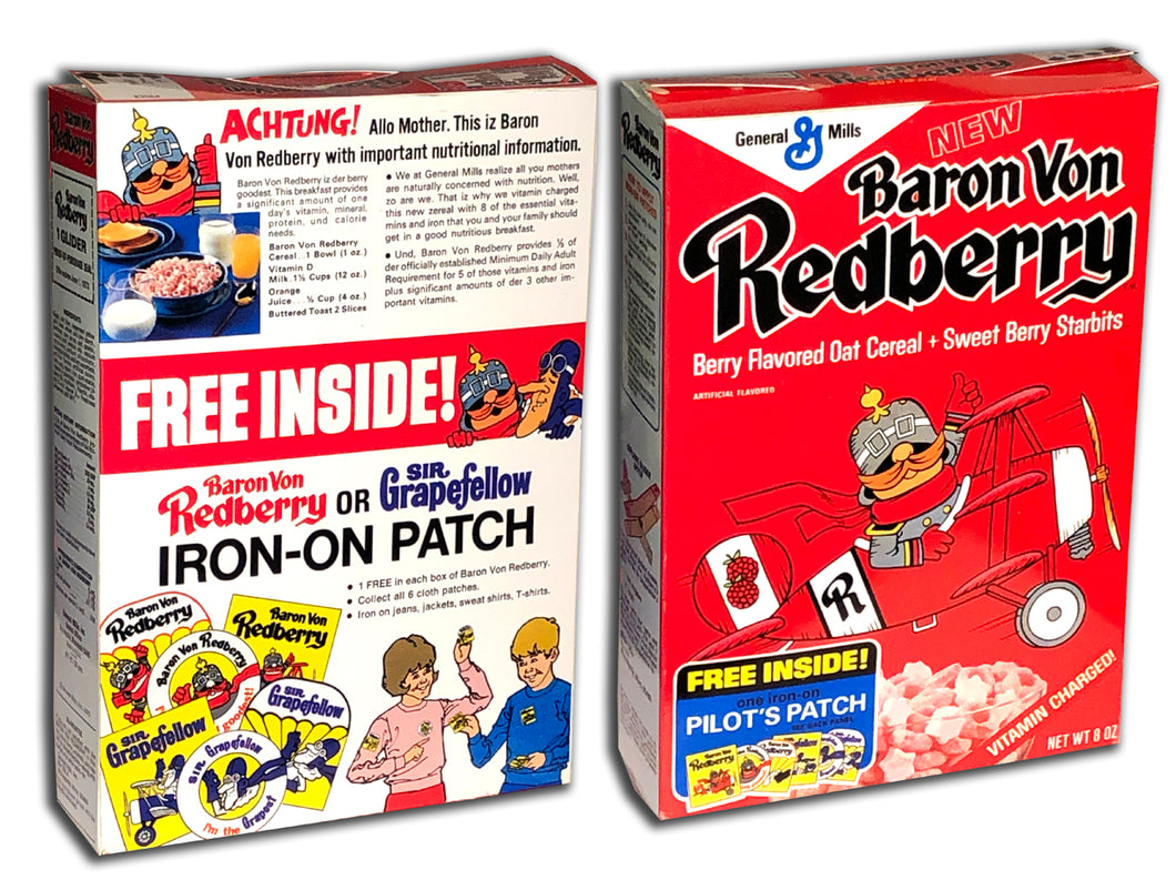 Cereal Box: Baron Von Redberry