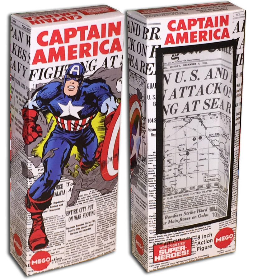 Mego Captain America Box: Pearl Harbor