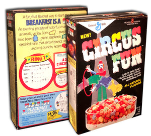 Cereal Box: Circus Fun