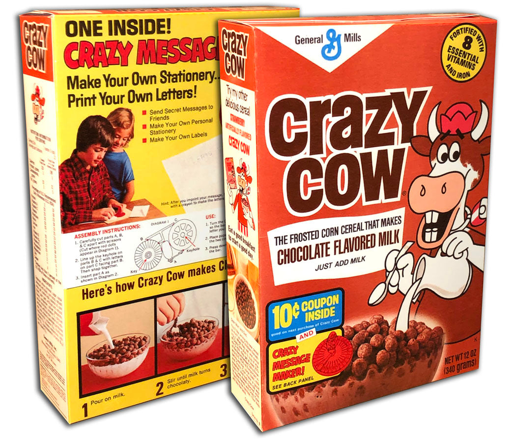 Cereal Box: Crazy Cow (Chocolate)