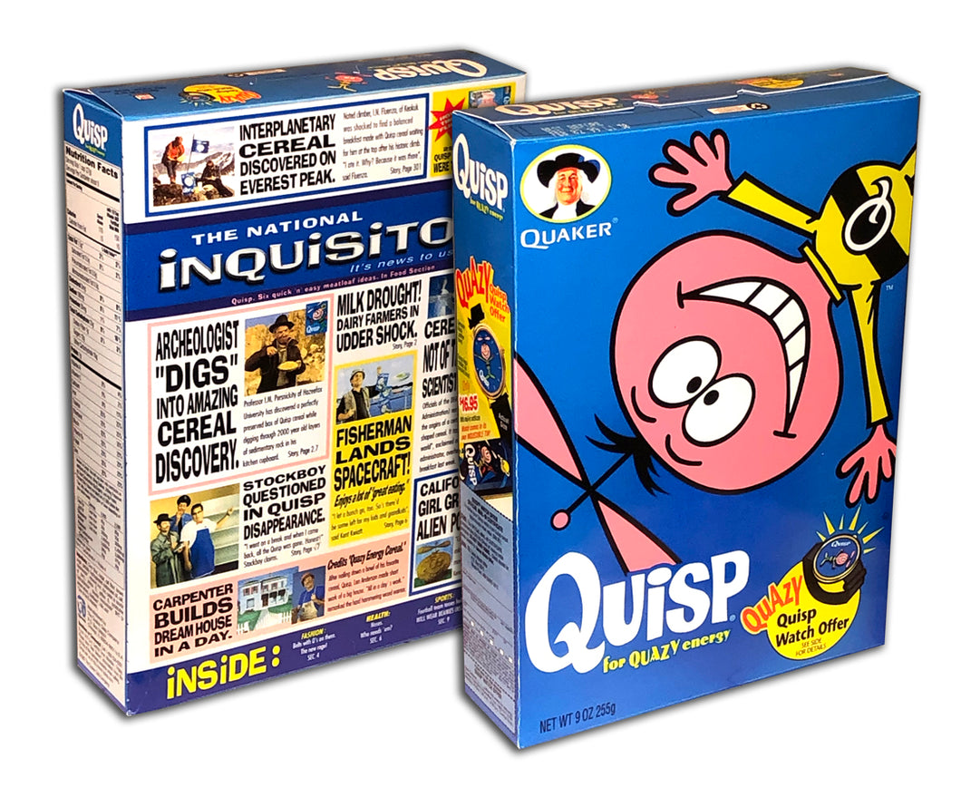 Cereal Box: Quisp (Quazy Watch)