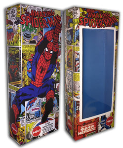 Mego Spider-Man Box: Panels Collage