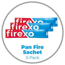 Load image into Gallery viewer, Pan-Fire Extinguishing Sachet 3-Pack