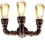 Rustikales Rot__Pipe_Wall_3_Head_Holder_Lighting (1)