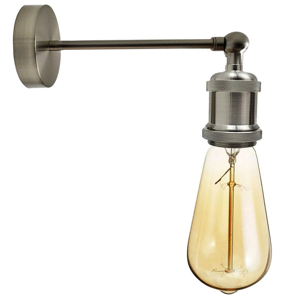 Industrielle Nickel satiniert Retro verstellbare Wandleuchten Vintage Style Wandleuchte Lampe Fitting Kit