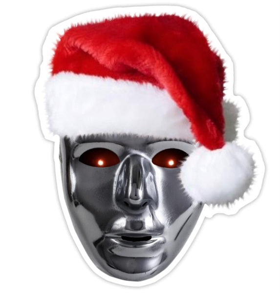 Santa Mask Sticker