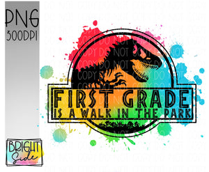 First Grade is a Walk in the Park -paint splatter