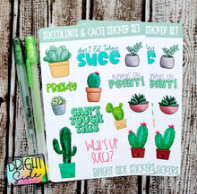 Load image into Gallery viewer, Succulents & Cacti Sticker Set (2 sheets)