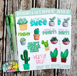 Succulents & Cacti Sticker Set (2 sheets)