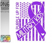 Load image into Gallery viewer, Purple up for military kids -Military child
