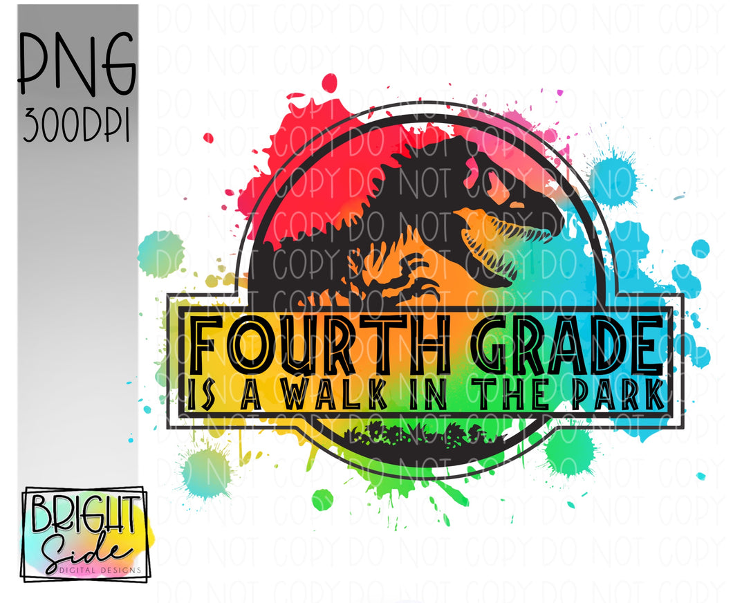 Fourth Grade is a Walk in the Park -paint splatter