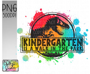 Kindergarten is a Walk in the Park -paint splatter