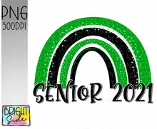 Load image into Gallery viewer, Senior 2021 rainbow Green/Black