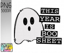 Load image into Gallery viewer, This year is boo sheet