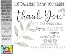 Load image into Gallery viewer, Thank You Card 6 simple floral