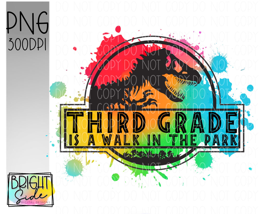 Third Grade is a Walk in the Park -paint splatter