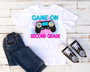 Game on second grade pink/blue