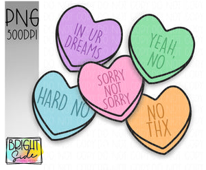 Sarcastic Candy hearts