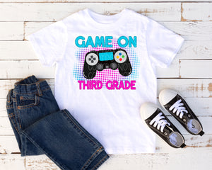 Game on third grade pink/blue