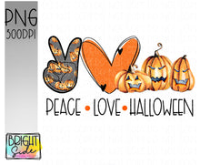Load image into Gallery viewer, Peace Love Halloween