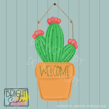 Load image into Gallery viewer, Potted Cactus Welcome