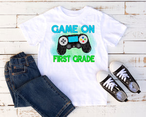 Game on first grade Green/Blue