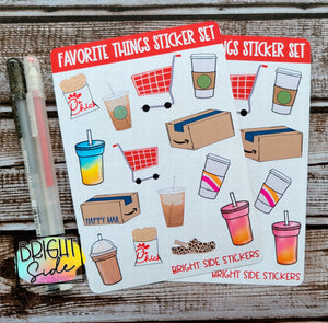 Favorite Things Sticker Set (2 sheets)