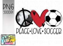Load image into Gallery viewer, Peace Love Soccer