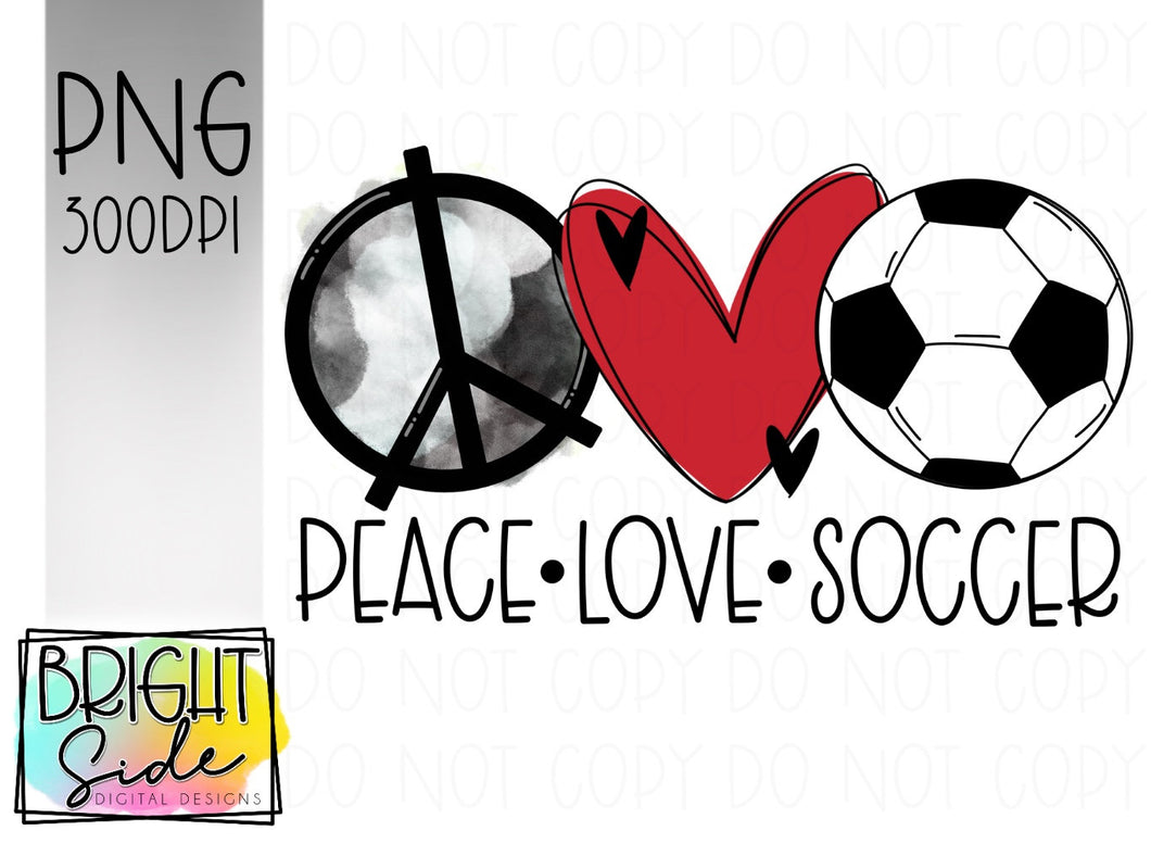 Peace Love Soccer