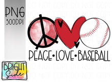 Load image into Gallery viewer, Peace Love Baseball