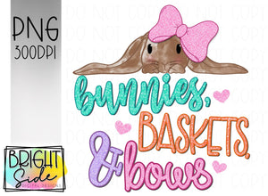 Lop bunnies baskets & bows