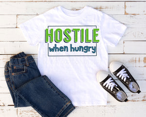 Hostile when hungry -green