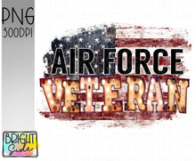 Load image into Gallery viewer, Air Force Veteran marquee -plain