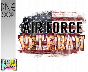Air Force Veteran marquee -plain