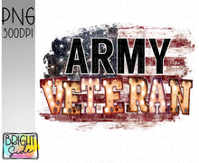 Load image into Gallery viewer, Army Veteran marquee -plain