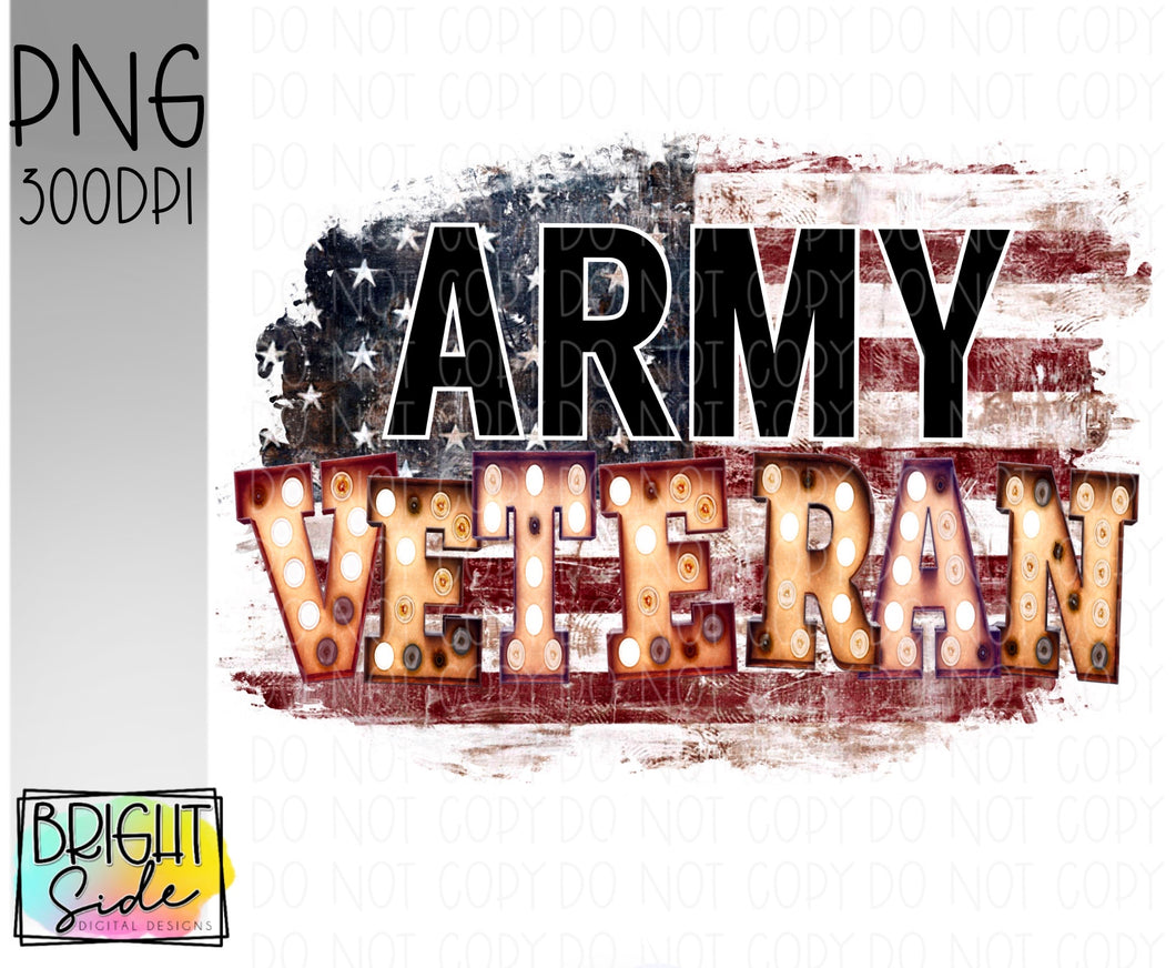 Army Veteran marquee -plain