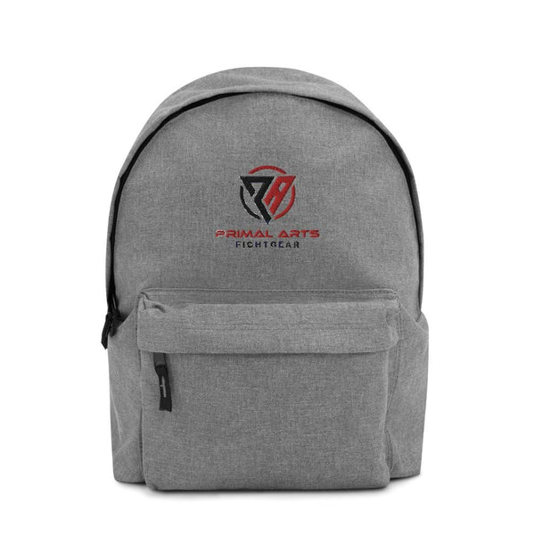 Best fightgear for mma, mixed martial arts, boxing, kickboxing and jiu jitsu. no gi bjj gear buy online Embroidered Primal Backpack - Primal Arts Fightgear - Grey Marl