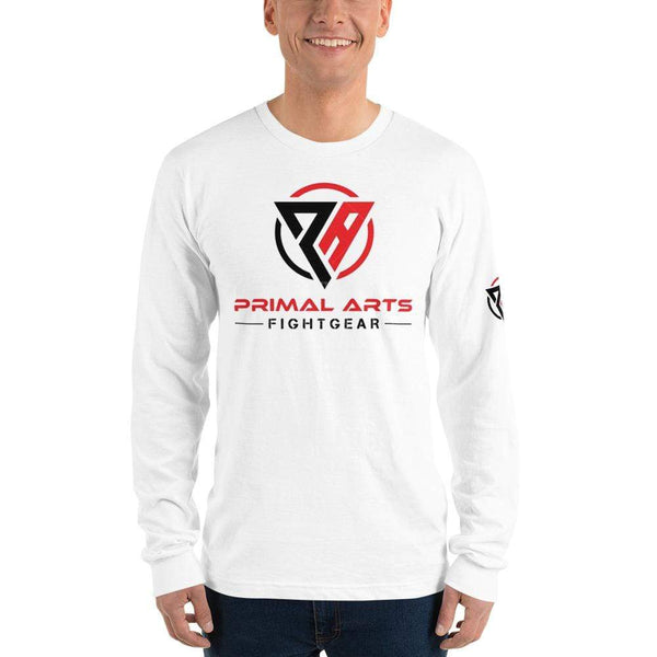 Best fightgear for mma, mixed martial arts, boxing, kickboxing and jiu jitsu. no gi bjj gear buy online Primal Arts Long-Sleeve - Primal Arts Fightgear - White / S