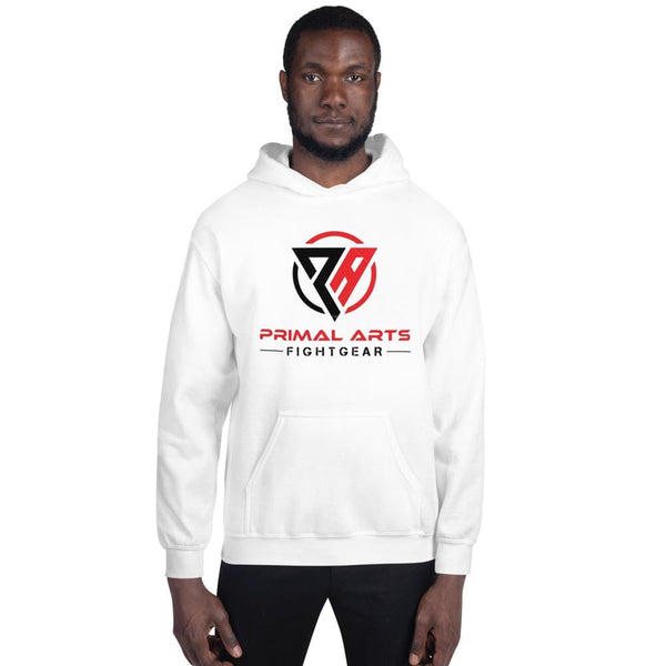 Best fightgear for mma, mixed martial arts, boxing, kickboxing and jiu jitsu. no gi bjj gear buy online Unisex Primal Hoodie - Primal Arts Fightgear - White / S