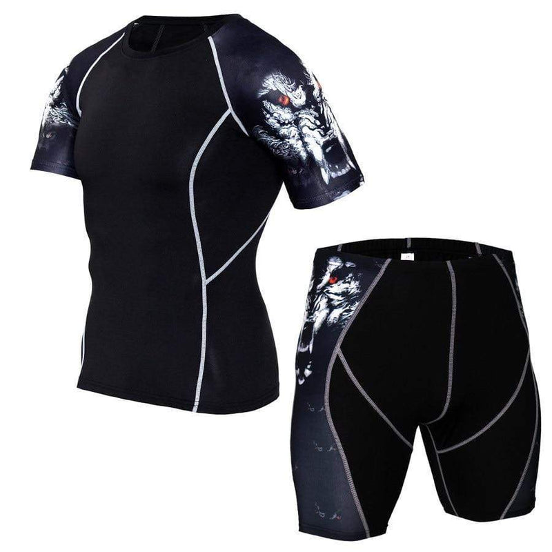 Best fightgear for mma, mixed martial arts, boxing, kickboxing and jiu jitsu. no gi bjj gear buy online Wild Wolf - Primal Arts Fightgear - 3XL (180-190cm) / (95-105kg) / 2-piece short