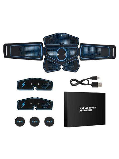 Best fightgear for mma, mixed martial arts, boxing, kickboxing and jiu jitsu. no gi bjj gear buy online ABS Abdominal Muscle Trainer Electric Press Stimulator. - Primal Arts Fightgear - Blue / China