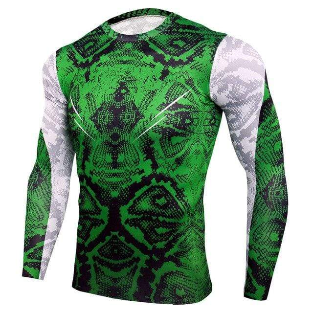 Best fightgear for mma, mixed martial arts, boxing, kickboxing and jiu jitsu. no gi bjj gear buy online Green Tribal Set Long - Primal Arts Fightgear -