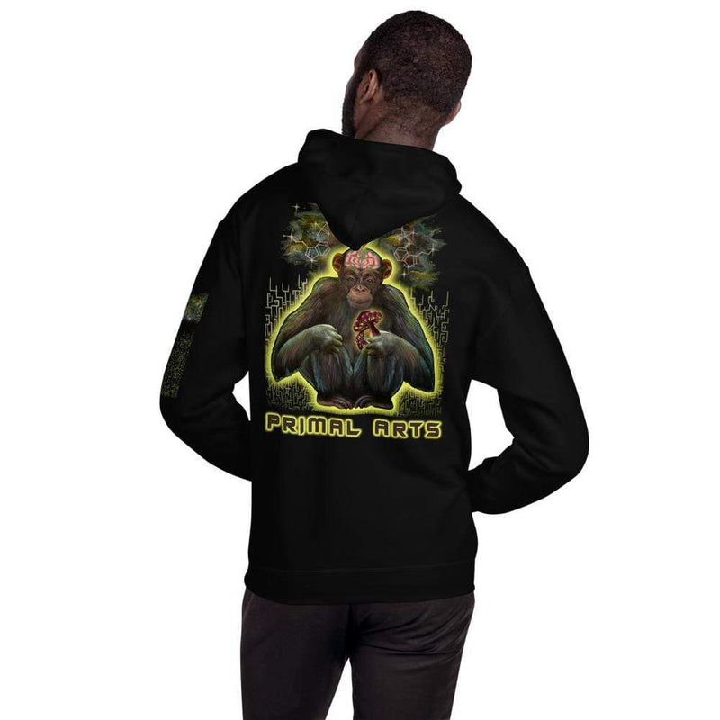 Best fightgear for mma, mixed martial arts, boxing, kickboxing and jiu jitsu. no gi bjj gear buy online PSYCHIC PRIMATE Hoodie - Primal Arts Fightgear -